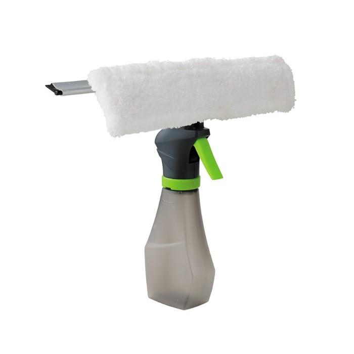 Щетка-водосгон для окон с распылителем Super Spray CleanerОстальное для уборки<br>Окна без разводов, чистые и блестящие! Щетка-водосгон с распылителем Super Spray Cleaner полностью заменяет тряпку, натирание и часовое мытье окон. Вам лишь нужно распылить жидкость для окон из колбы, протереть микрофиброй и убрать скребком остатки грязи и разводы.<br>