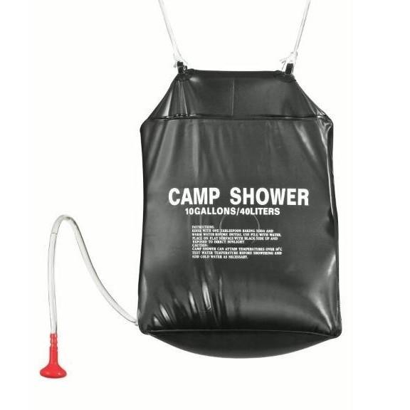 Душ туристический 40лПоходный душ<br>Сделан из НЕТОКСИЧНЫХ ПВХ материалов, объемом 40 л., хорошо нагревается от солнечных лучей. Примите приятный теплый душ после длинного похода. Удобно складывается, занимает мало места.<br>