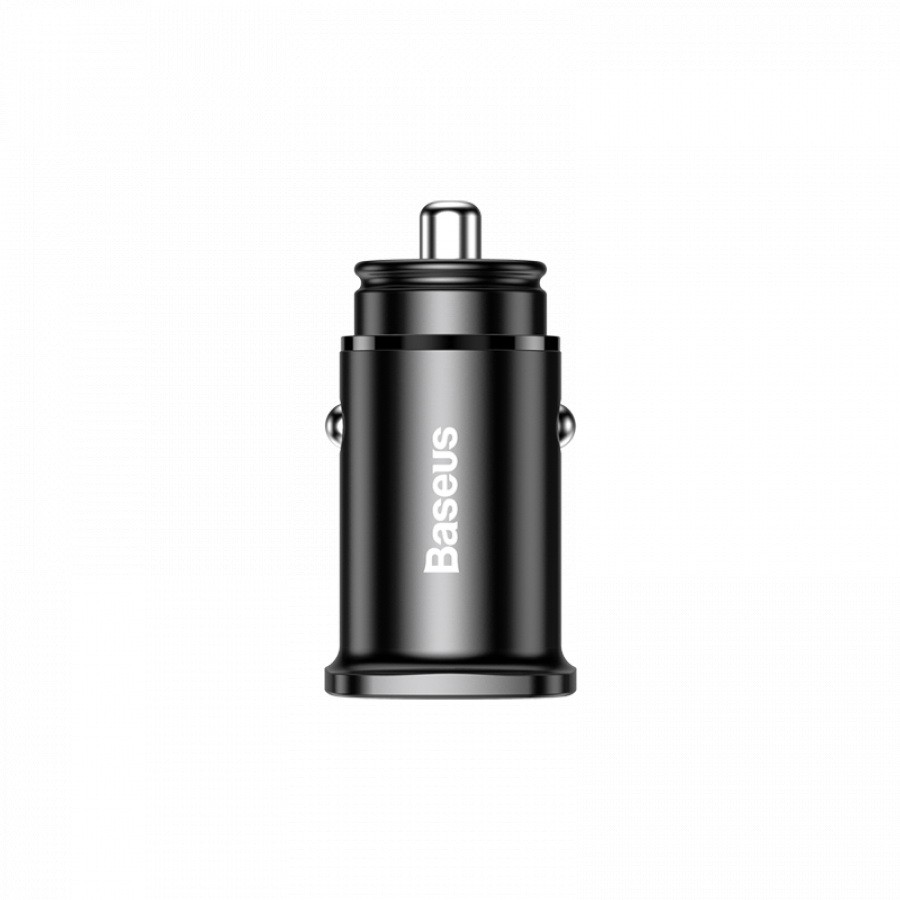 Автомобильная зарядка Baseus Fast PD PPS Car Charger USB + USB type C, чёрный