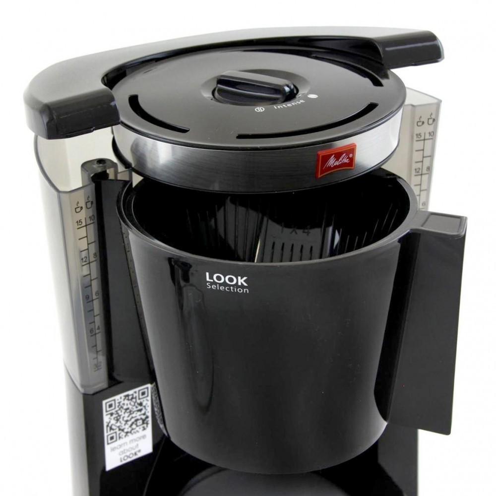 Кофеварка Look IV Selection Melitta чернаяКофеварки и кофемашины<br>MELITTA LOOK IV Selection впечатляет не только превосходным вкусом, но также элегантными элементами из нержавеющей стали.<br>