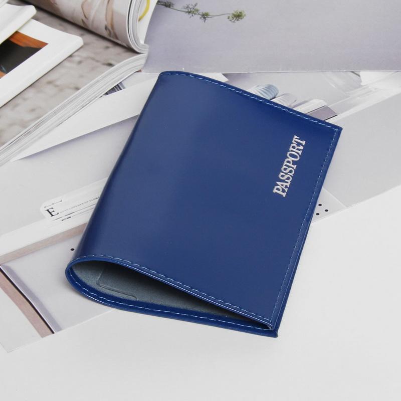 Обложка для паспорта, глянцевая, тиснение, синий