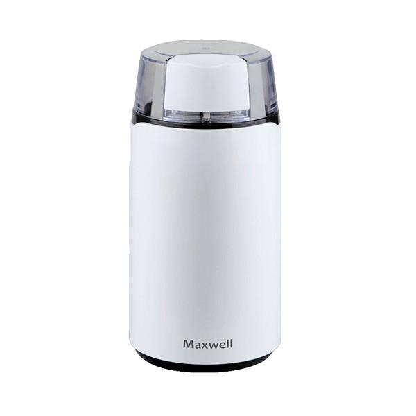 Кофемолка Maxwell 1703-MW(W) MW-1703(W)Кофемолки<br>Роторная кофемолка MW-1703 W от компании Maxwell мощностью 150 Вт имеет вместимость отсека для измельчения кофейных зерен на 45 грамм, и оснащена системой блокировки включения при снятой крышке.<br>