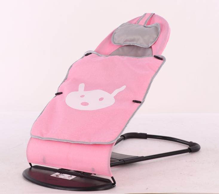 Кресло-шезлонг для новорожденных - Зайка, розовый фото