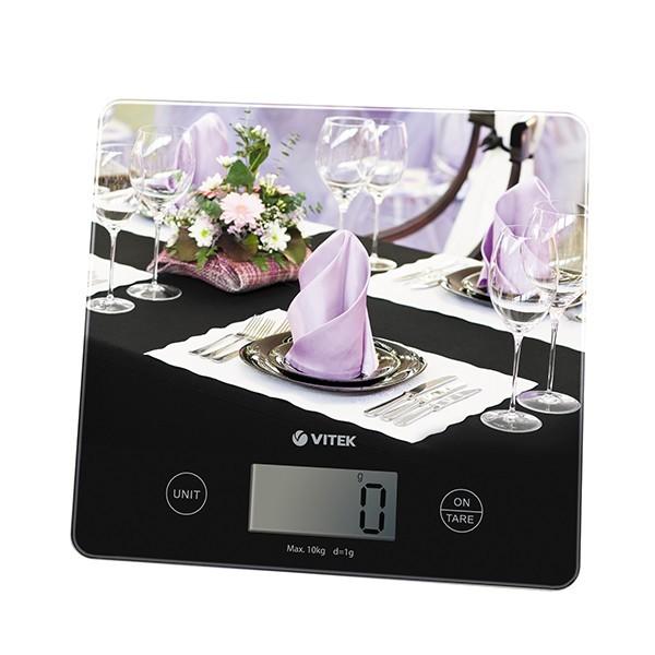 Кухонные весы Vitek (размер платформы 20,0x18,5 см) VT-2429(MC)Кухонные весы<br>Наряду с «серьёзными» бытовыми приборами, производитель Vitek предлагает в ассортименте кухонные весы, которые позволяют отмерять необходимое количество продуктов с точность до миллиграмма, что важно при готовке.<br>