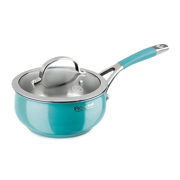 Ковш с/кр 1.5 л Turquoise Rondell RDS-716Ковши<br>Стальной ковш Rondell RDS-716 Turquoise объемом 1,5 л насыщенного бирюзового цвета дополнит стильные предметы посуды на вашей современной кухне!<br>