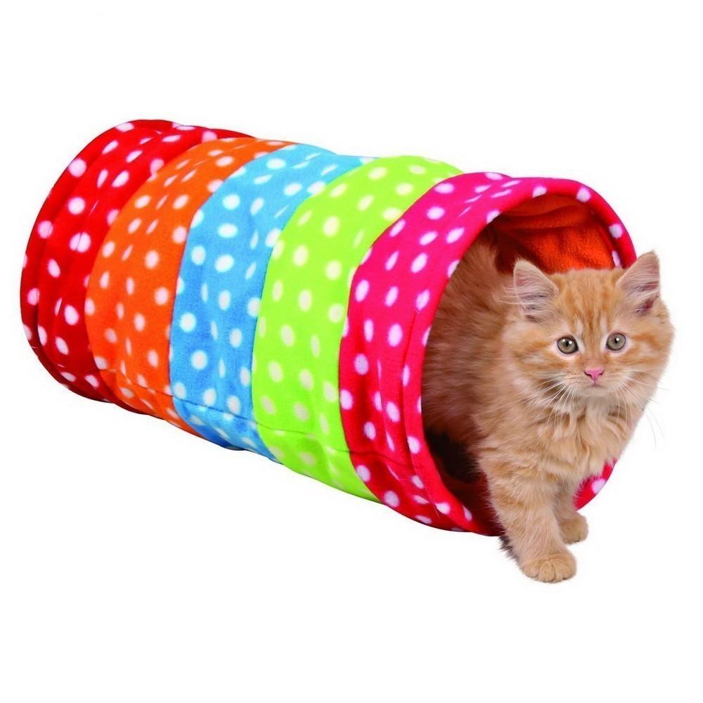 Тоннель Trixie для кошки, 25х50см., горошек, флис.Остальное<br>Ищите оригинальное развлечение для своей кошки? Обязательно обратите внимание на шуршащий тоннель  Trixie 25 х 50 см. Внутри стенок расположен специальный материал, который шуршит и привлекает интерес у четвероногого друга.<br>