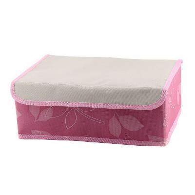 Складной кофр для хранения носков и нижнего белья 24 ячейки, 32х24х12,5 см, розовый