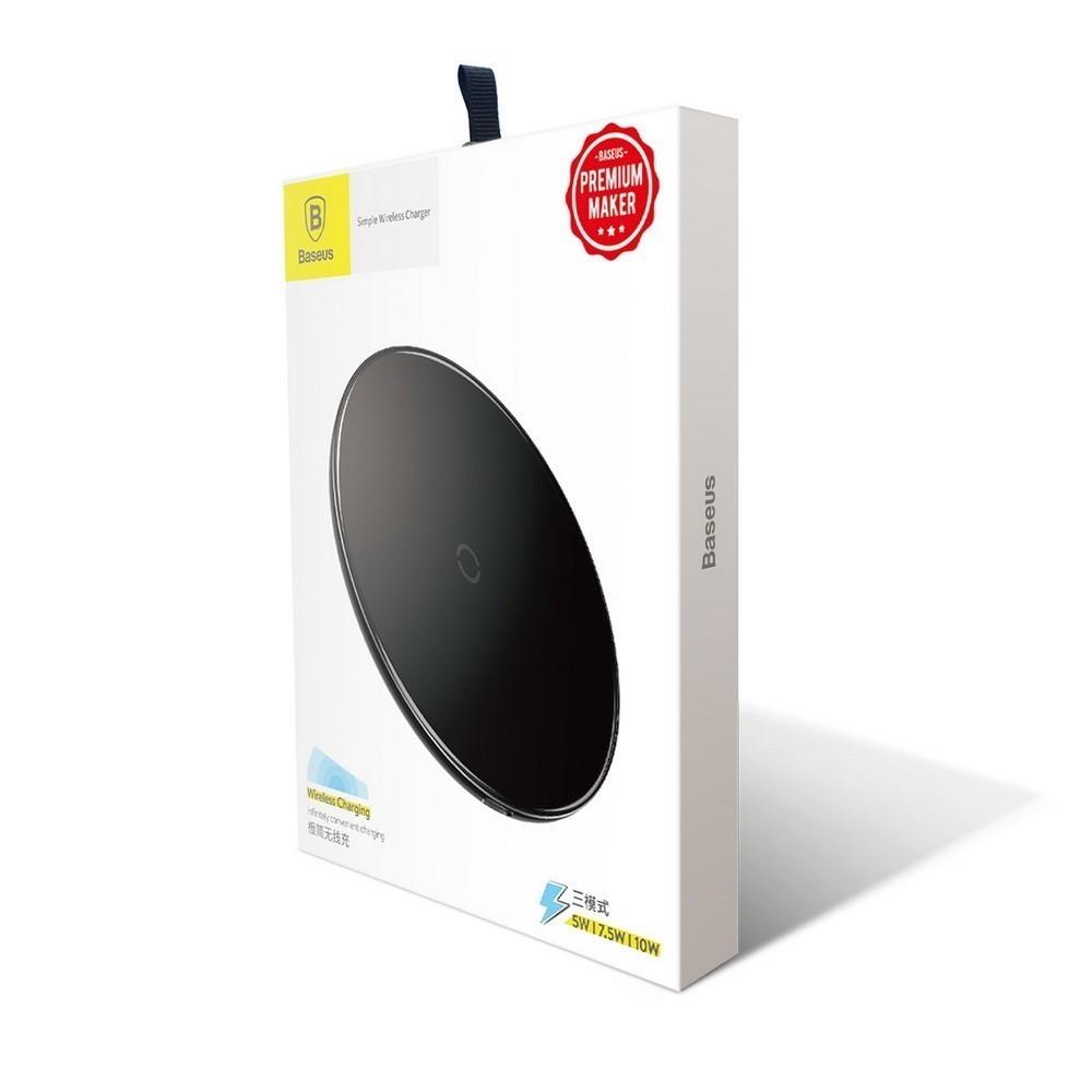 Беспроводная зарядка Baseus Simple Wireless Charger, чёрный