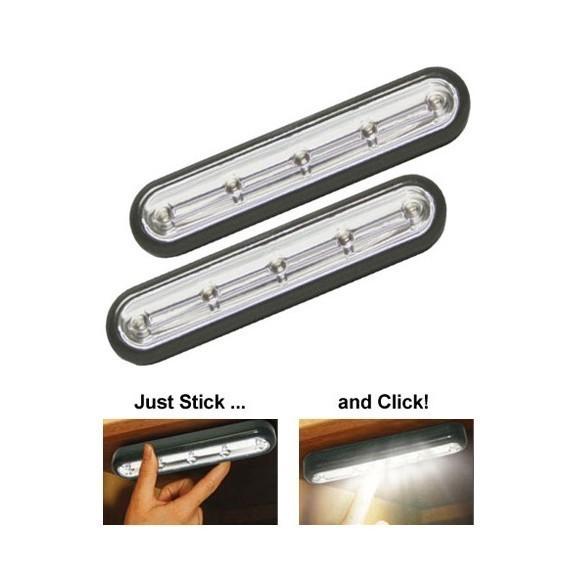 LED светильники Stick N Click Strip, набор 2 шт. от MELEON