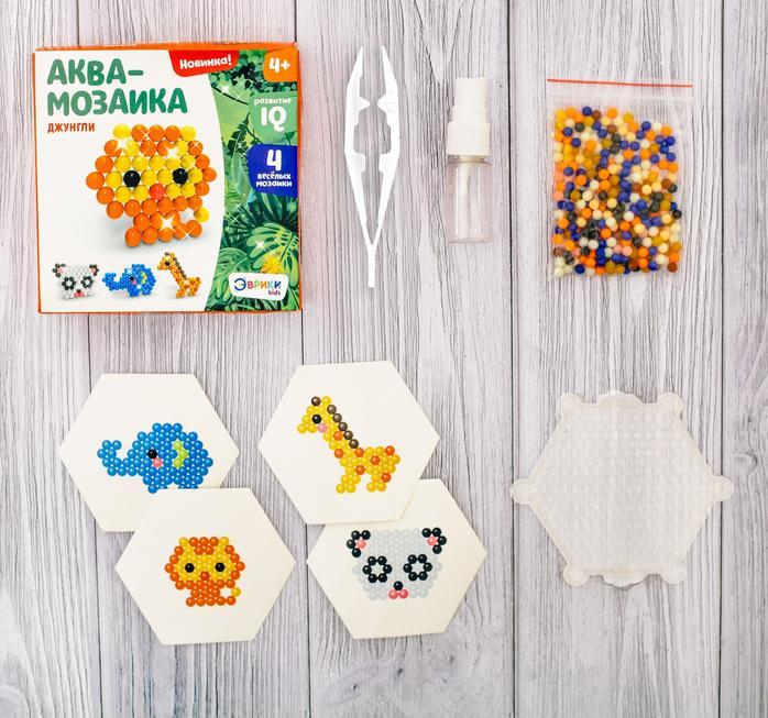 Купить Аквамозаика для детей - Зверята, Развивающие игрушки