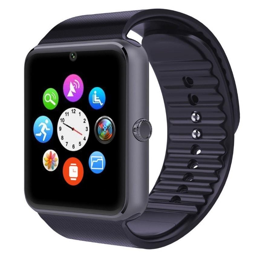 Умные часы GT08 watch - BlackУмные Smart часы<br>Полная и расширенная функциональность, поддержка Android и 95% прошивок. GT08 Smart Watch – это маленький смартфон у вас на руке, который умеет все основные функции телефона и даже больше! Принимает звонки, фотографирует, записывает видео, следит за вашим распорядком дня, считает шаги и калории, проигрывает музыку и многое другое! В трех цветах: золотой, серебро, черный.<br>