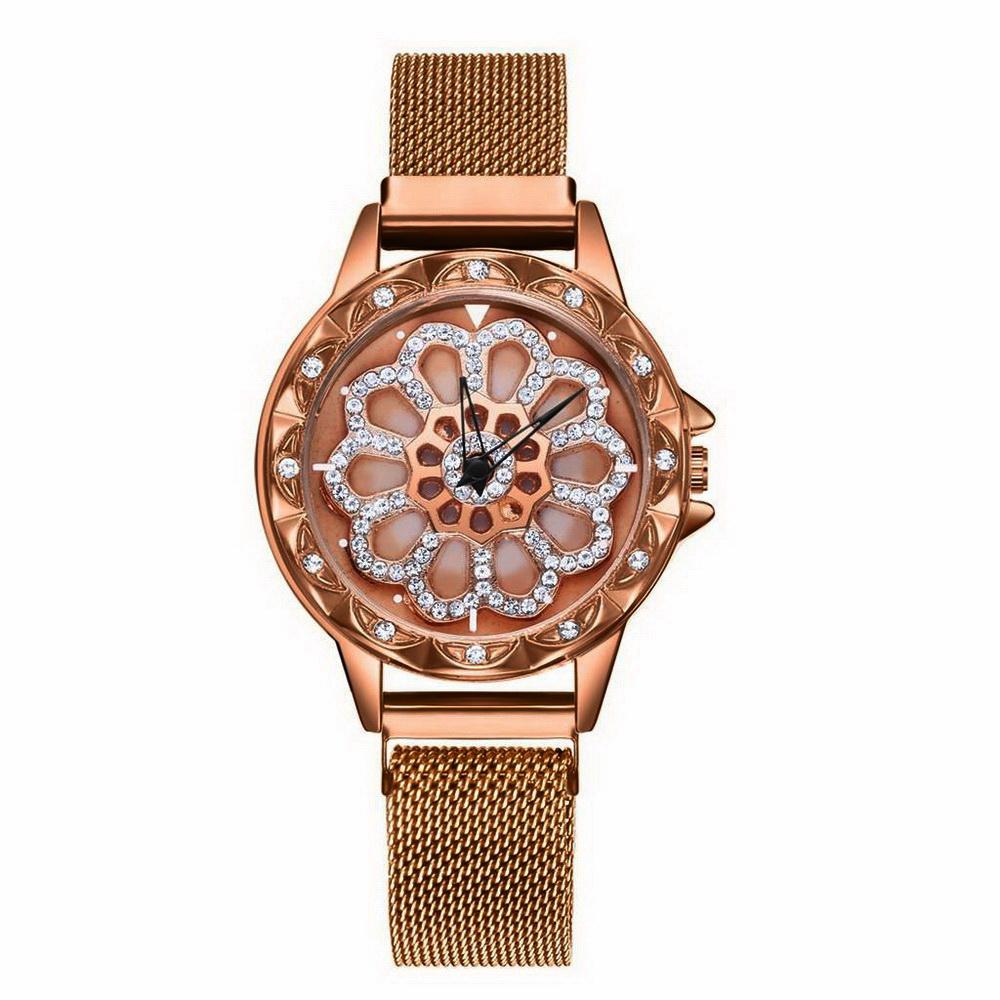 Наручные кварцевые женские часы Gedi, бронза