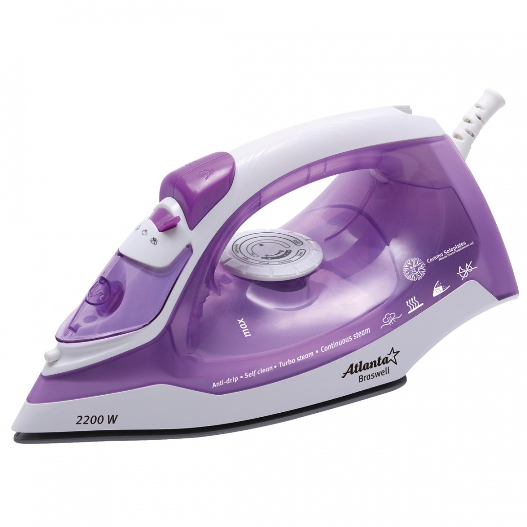 Утюг ATLANTA ATH-5543 (violet) с пароувлажнением