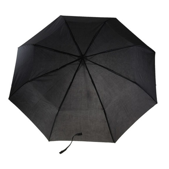 Зонт складной механический - черный