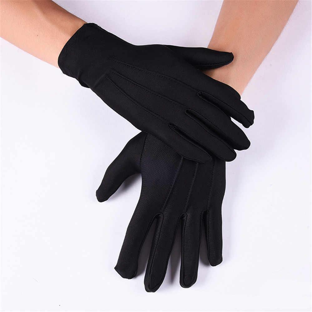 Перчатки эластичные из спандекса, черные
