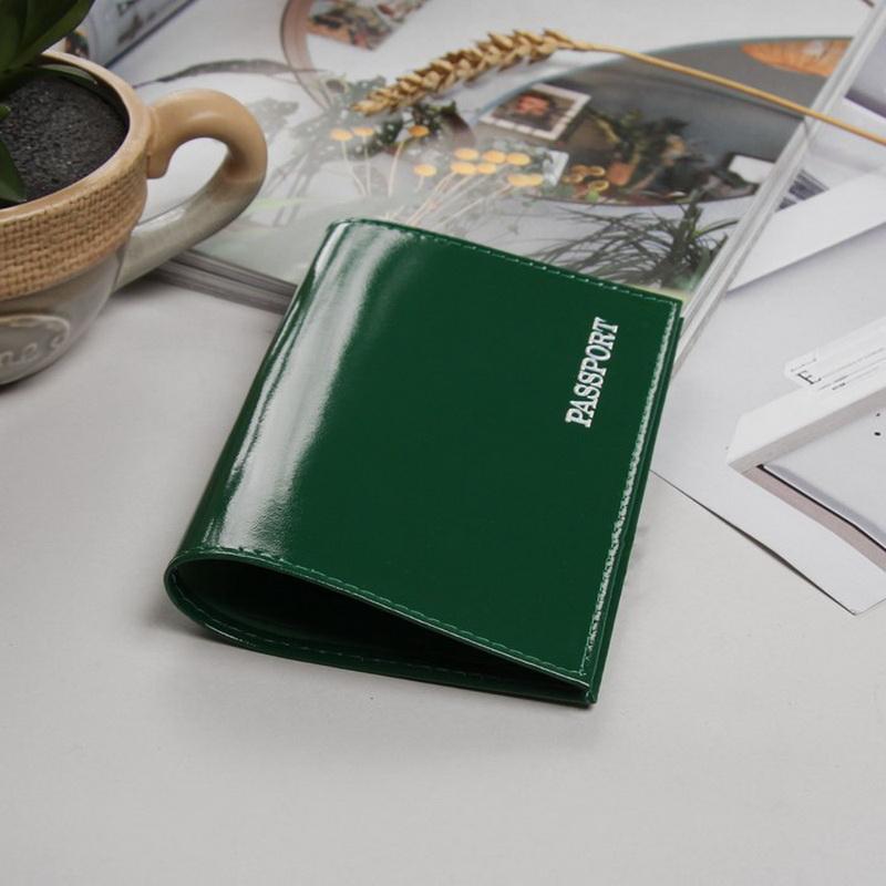 Обложка для паспорта, гладкий, зелёный