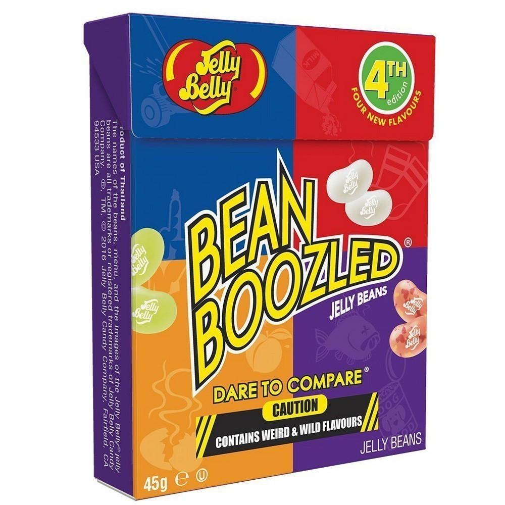 Драже Jelly Belly Bean Boozled, 4ая серия, коробка, 45 гЖвачка и драже<br>Удачливы ли вы? Ответ на этот вопрос вам предоставят популярные на весь мир драже Jelly Belly Beanboozled, 4ая серия, коробка, 45 г! Про американские конфеты с самыми нестандартными вкусами слышали все! Теперь у вас есть возможность повеселиться в кругу близких, продегустировать нестандартные конфеты и испытать фортуну!<br>