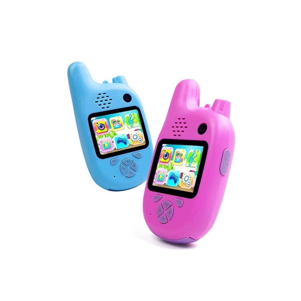 Детский фотоаппарат Children's fun camera (рация+фотоаппарат), голубой