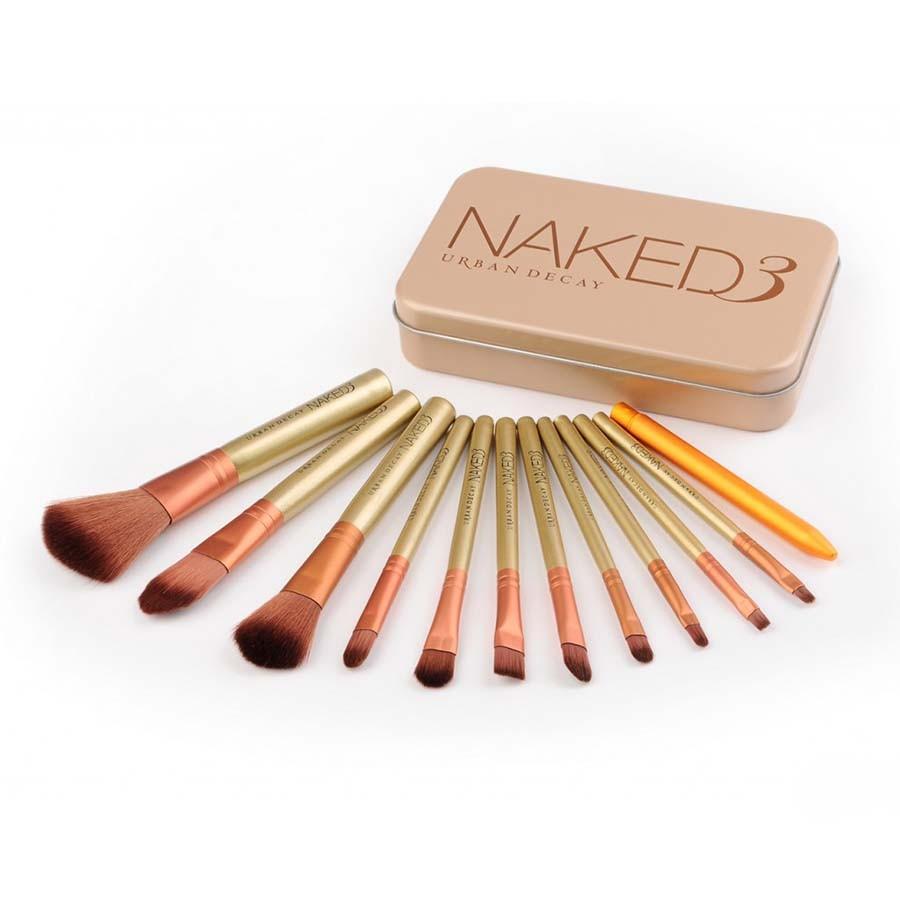 Набор кистей для макияжа Naked3Для нанесения макияжа<br>Думаете, что за качество макияжа отвечает только декоративная косметика? Убеждены, что обеспечить идеальный мейк ап могут исключительно профессионалы? Знакомьтесь с революционным набором кистей для макияжа Naked3.  В комплекте вы найдете все необходимое для наведения красоты в домашних условиях!