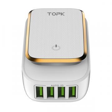 4-портовое зарядное устройство USB со светодиодной подсветкой