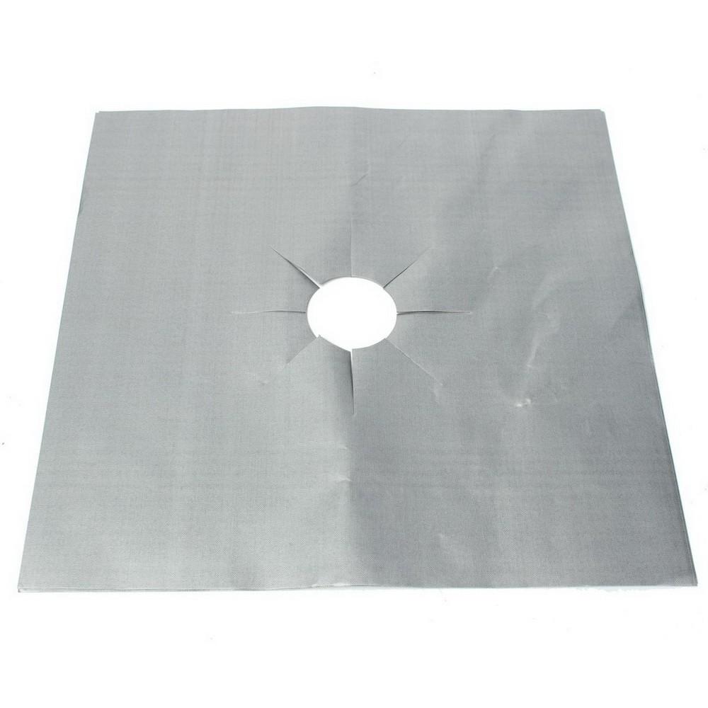 Экран для газовой плиты из фольги, серебристый