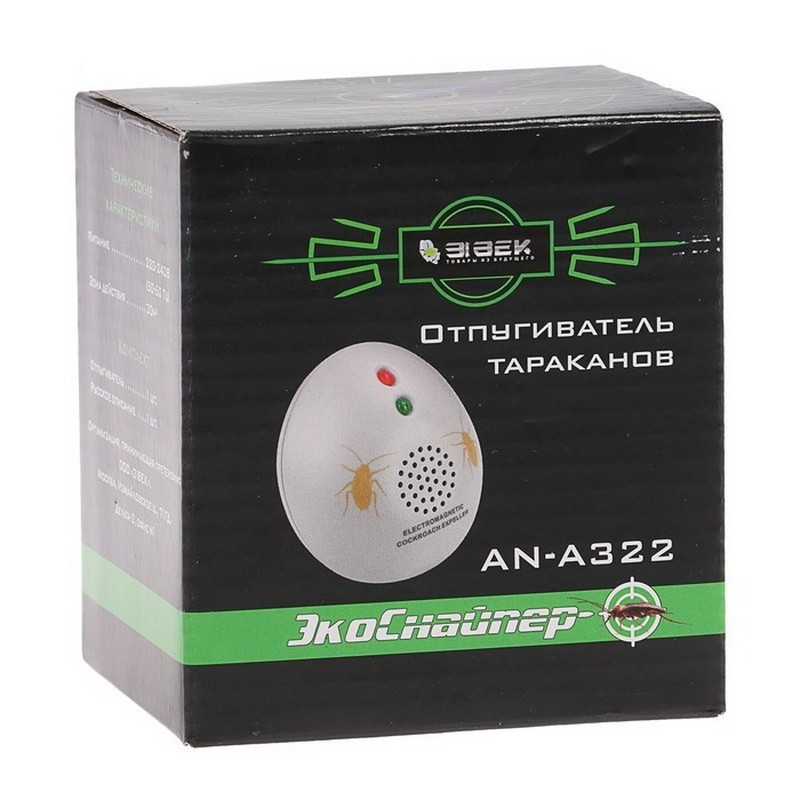 Электромагнитный отпугиватель тараканов ЭкоСнайпер AN-A322