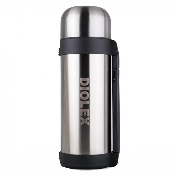 Термос Diolex универсальный с ручкой 1500 млТермосы<br>Термос сохраняет напитки и продукты горячими в течение 12 часов, а холодными в течение 24 часов.Легкий и прочный термос Diolex идеально подойдет для транспортировки и путешествий.<br>
