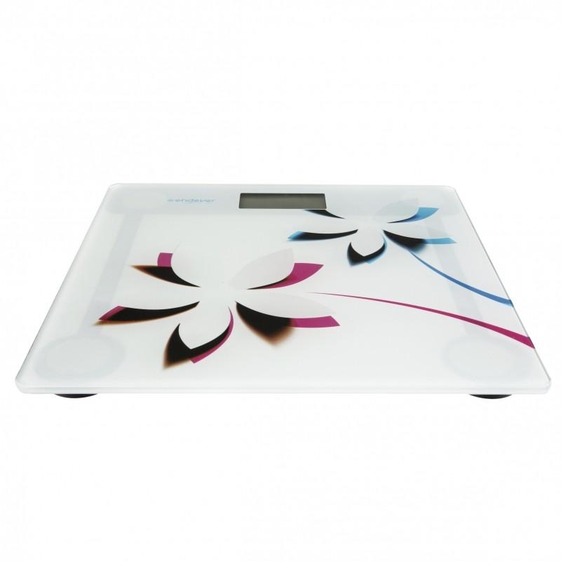 Напольные весы ENDEVER Skyline с рисунком «Цветы» FS-506
