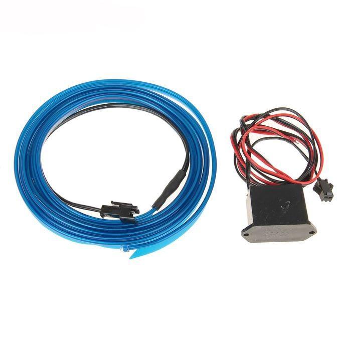 Неоновая нить для подсветки салона 2 м, синяя - Автомобилисту - Авто - Электроника