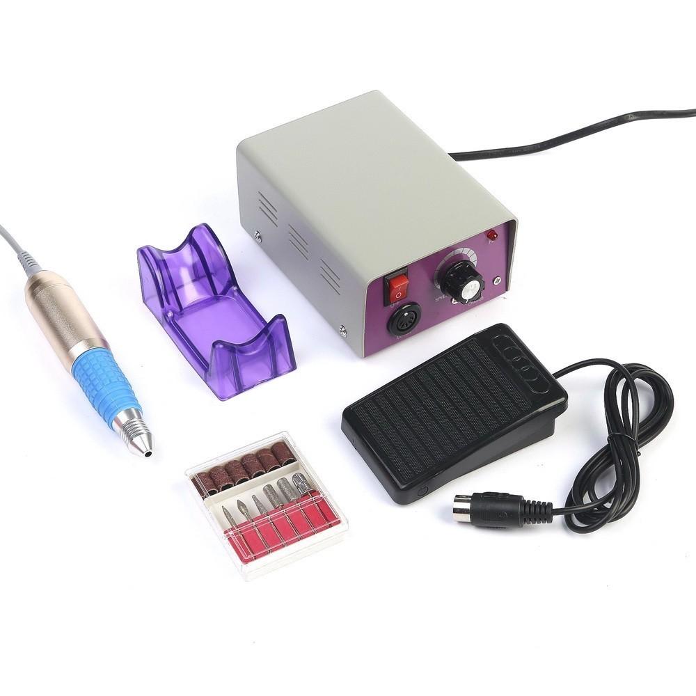 Машинка для маникюра и педикюра LuazON LMH-03, педаль, 6 насадок, 25000 об/мин.