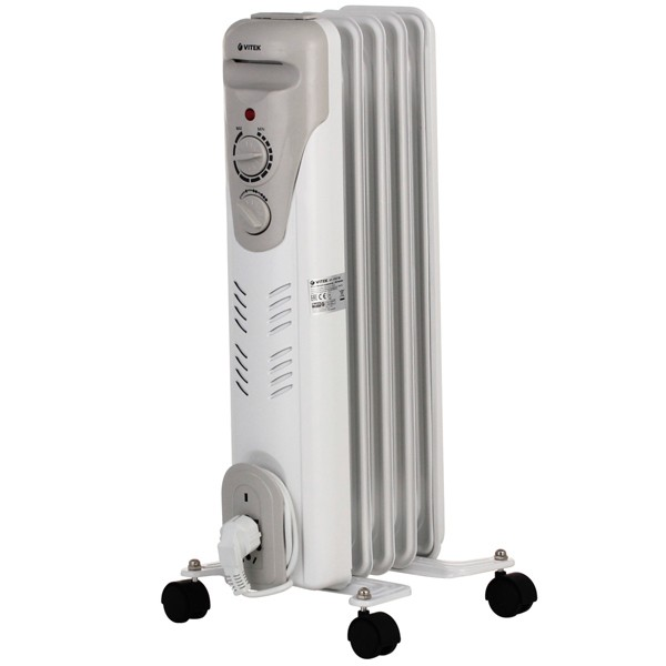 Радиатор Vitek  на 5 секций VT-1707(W)Радиаторы и обогреватели<br>Радиатор Vitek VT-1707 – это масляный обогреватель, который можно использовать как в жилых, так и в офисных помещениях.<br>