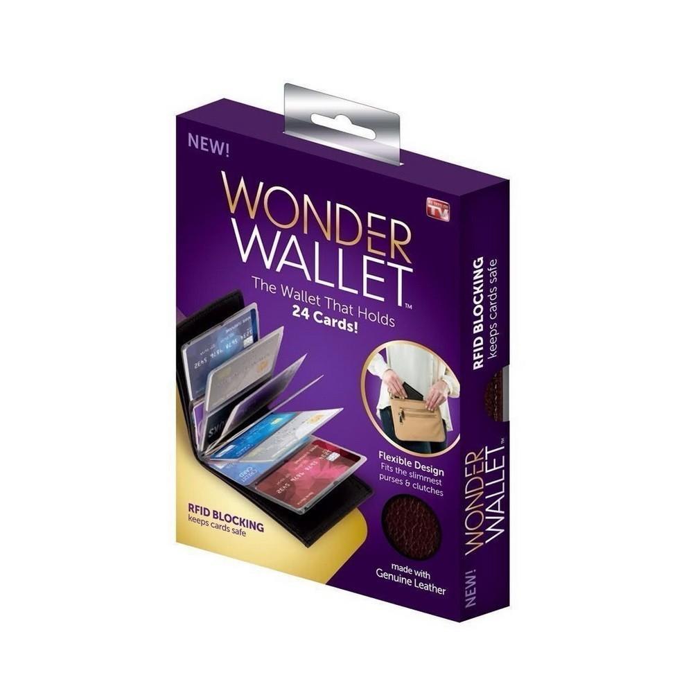 Кошелек-визитница Wonder WalletФутляры для банковских карт<br>Если вы ищете стильный, качественный и недорогой кошелек, который вместит в себя все необходимые карты, то обязательно обратите внимание на кошелек-визитницу Wonder Wallet. Изделие обеспечит вам максимум удобства в использовании и 100% защиту от пыли, грязи и влаги карточкам и купюрам!<br>