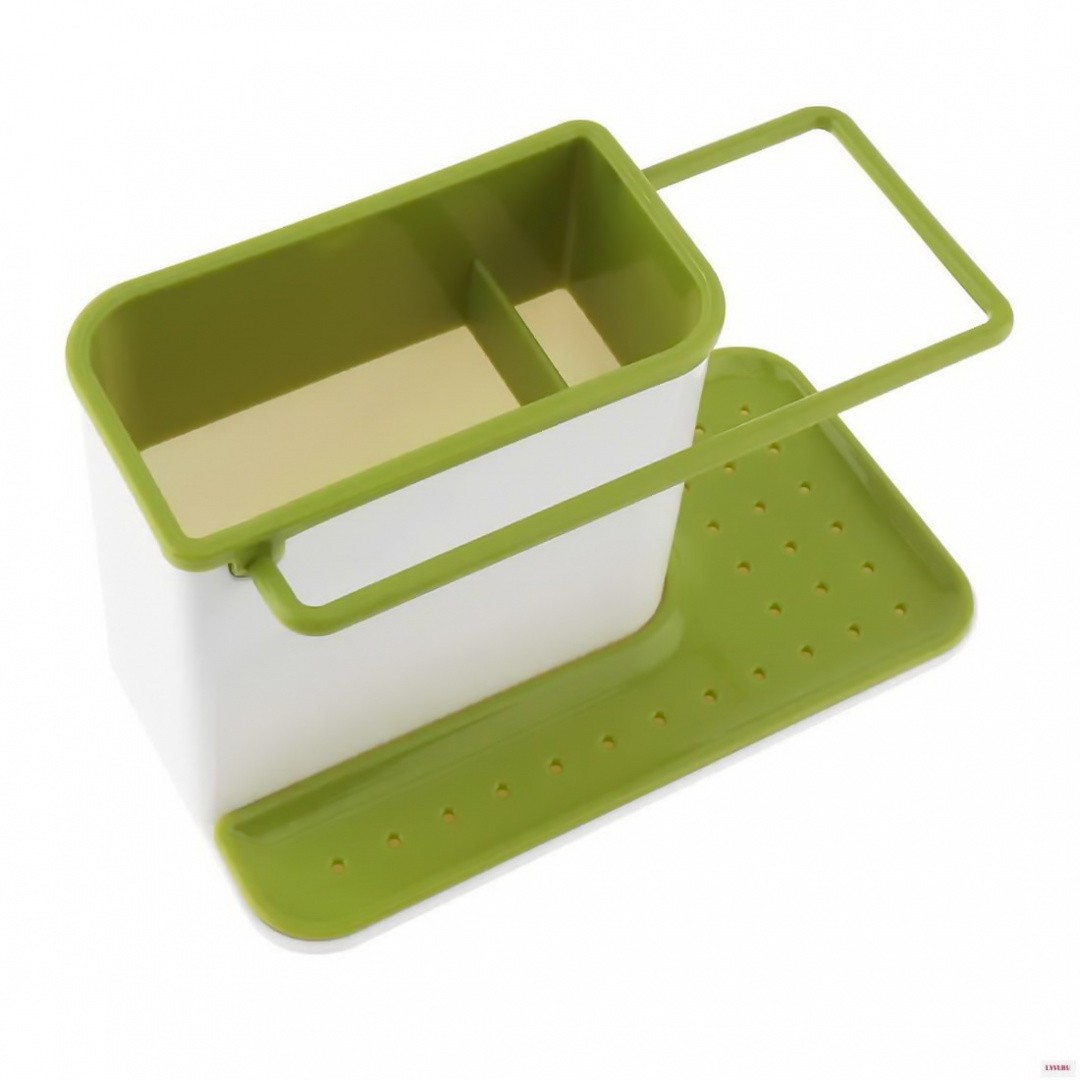 Органайзер для раковины вертикальный, зелёный