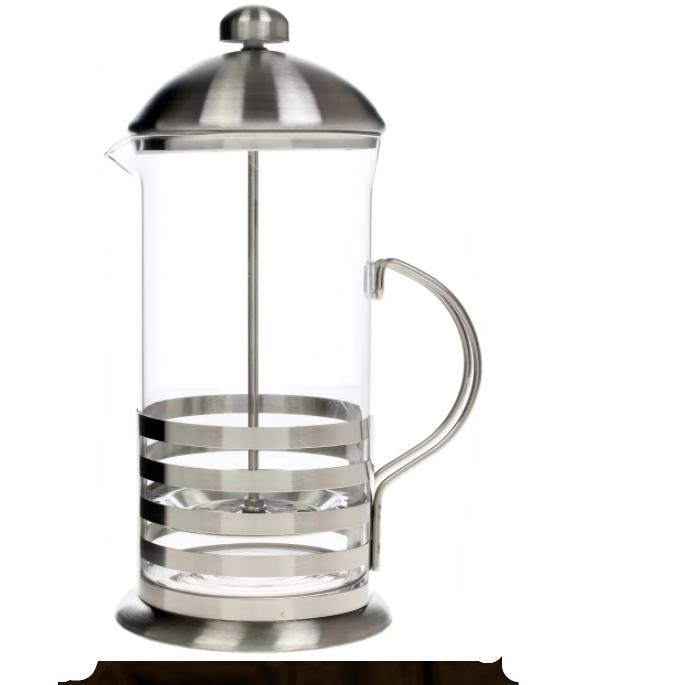 Френч-пресс TECO, 0,6л из высококачественного термостойкого стеклаЧайники заварочные и френч-прессы<br>Если вы любите свежеприготовленные чай или кофе, то френч-пресс Teco TC-F2060 станет вашим незаменимым спутником дома или на работе.<br>