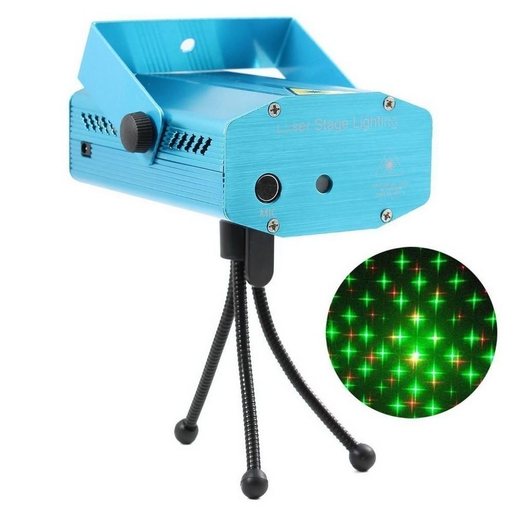 Лазерный мини-проектор Mini Laser Starge LightingСветильники проекторы<br>Приближается важное событие, потому вам хочется сделать для себя и близких незабываемый праздник? Не спешите тратить огромные суммы денег на аренду банкетного зала, ведь лазерный мини-проектор Mini Laser Starge Lighting обеспечит любому помещению невероятно праздничную и яркую атмосферу!<br>