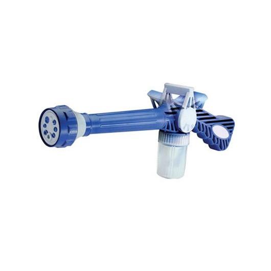 Распылитель на шланг с емкостью для шампуня Ez Jet Water CannonАвтомойки<br>Если вы часто работаете на даче или сталкиваетесь в быту с поливочными работами, то все процессы вам облегчит распылитель на шланг с емкостью для шампуня Ez Jet Water Cannon. Теперь даже помыть машину станет в сотни раз проще!<br>