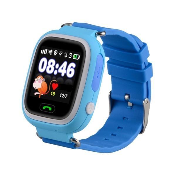 Smart Baby Watch Q80 — умные детские часы с GPS, голубые