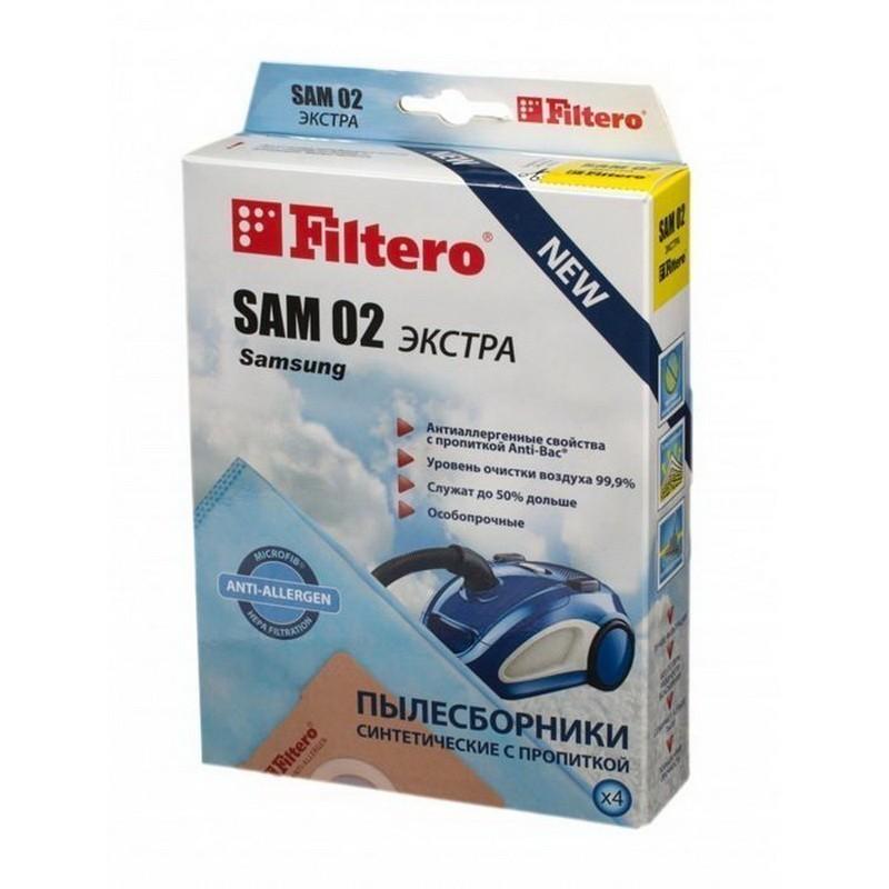 Мешки-пылесборники Filtero SAM 02 Экстра, 4 шт, синтетические