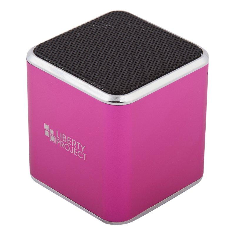 Колонка портативная «LP» M1 розовый (3,5+USB+microSD+FM радио) (коробка)