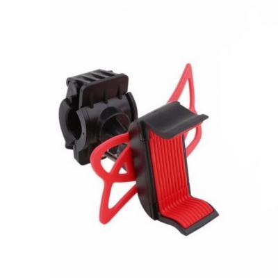 Силиконовый универсальный держатель для телефона Bicycle Phone Holder, 360 градусов, красный