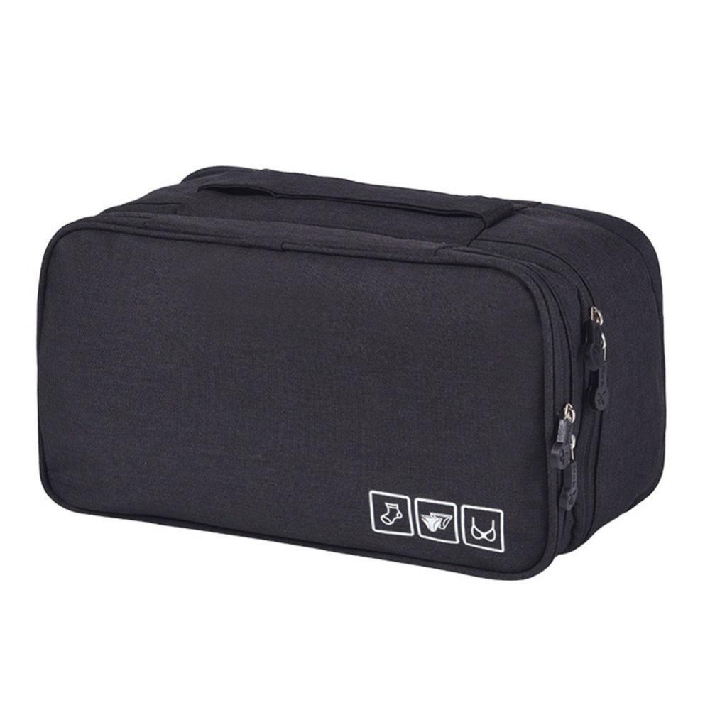 Дорожный органайзер для нижнего белья Travel Underwear Pouch, чёрный