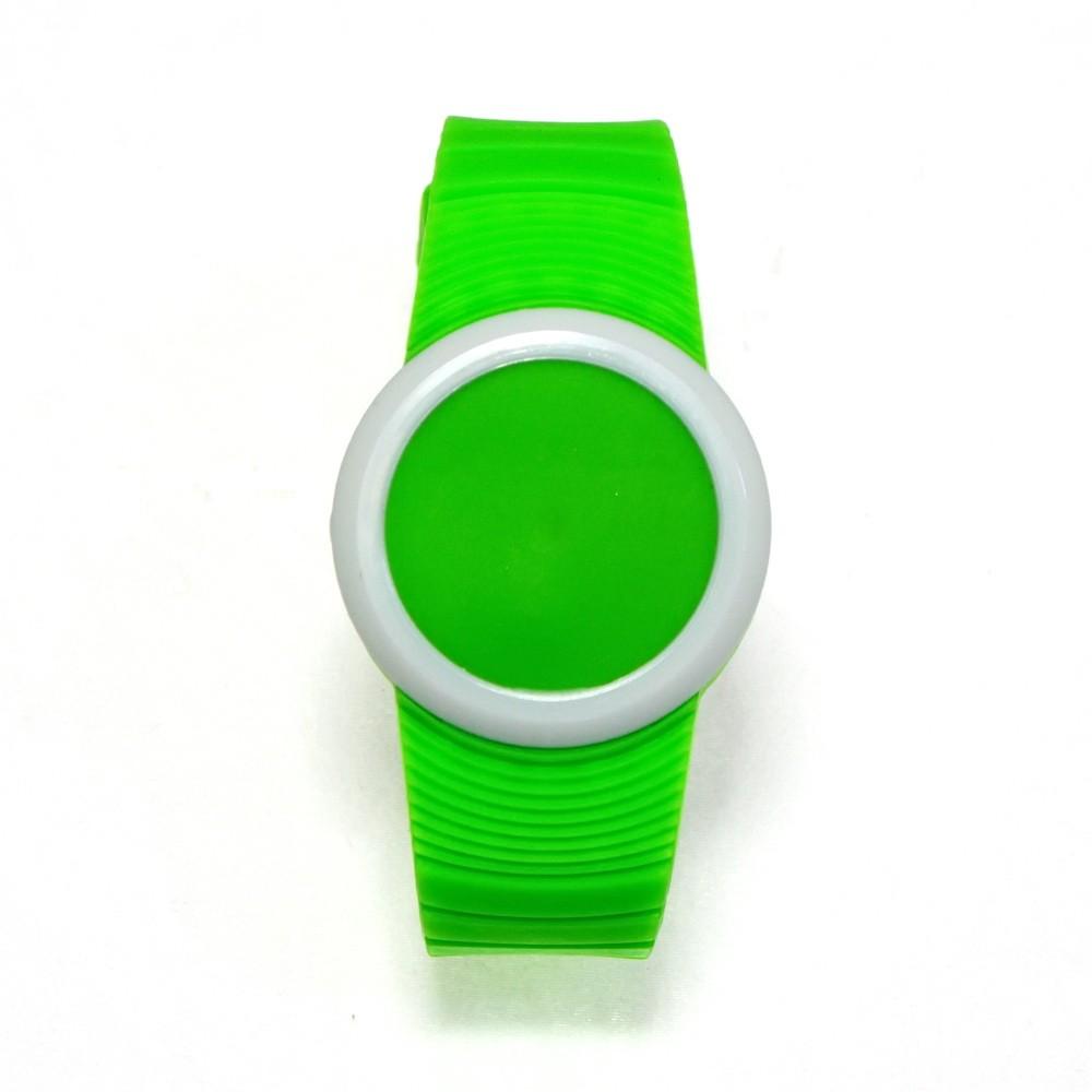 Ультратонкие силиконовые LED часы Nexer G1218, Зеленый