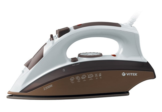 Утюг Vitek с вертикальным отпариванием VT-1201(BN)Утюги<br>Гладить деликатные и плотные ткани для вас не проблема с утюгом VT-1201 BN. Благодаря качественному антипригарному покрытию утюг идеально скользит по любой ткани, отглаживая даже самые сильные складки.<br>