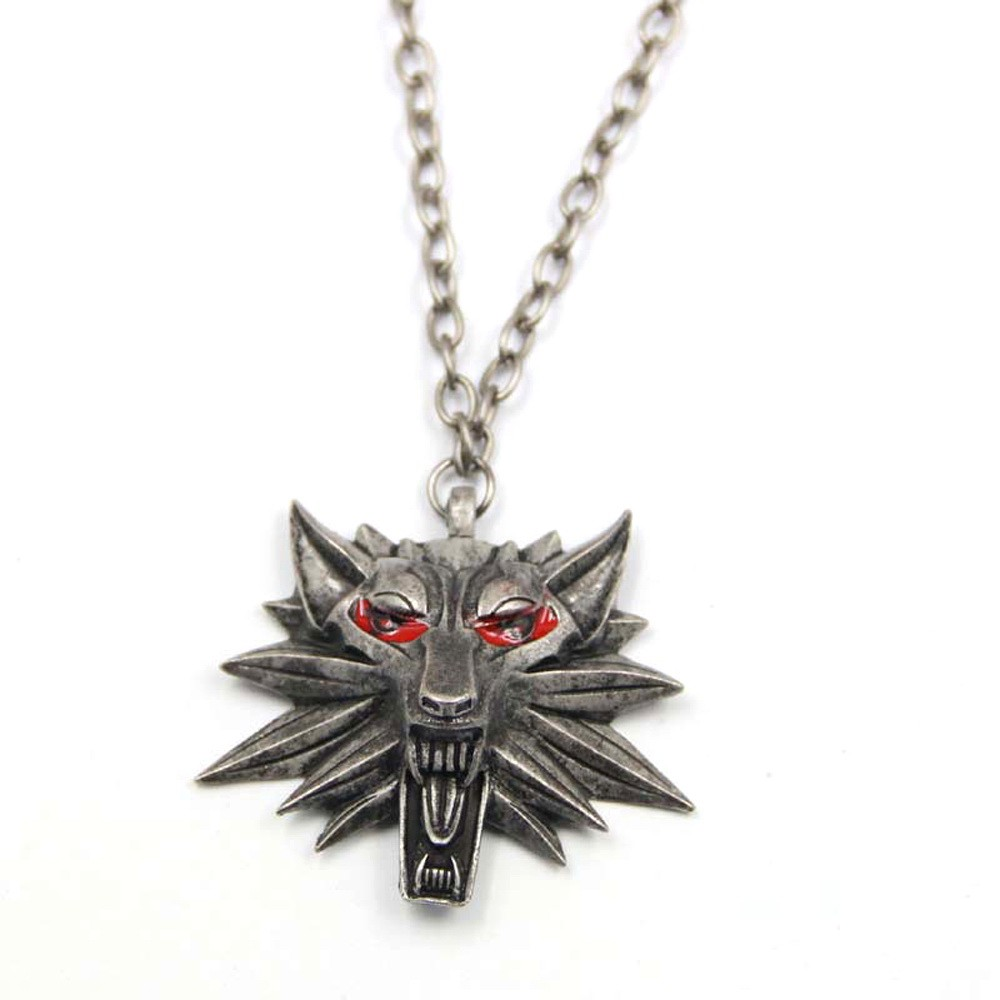 Медальон Ведьмака - Кулон The Witcher, красные глаза