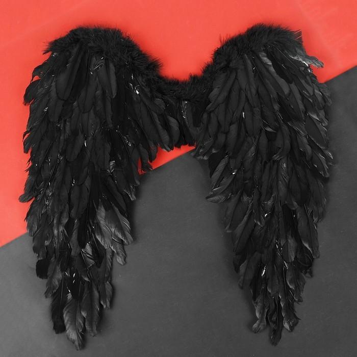 Купить Крылья ангела, 60х57, цвет чёрный, Товары для вечеринки