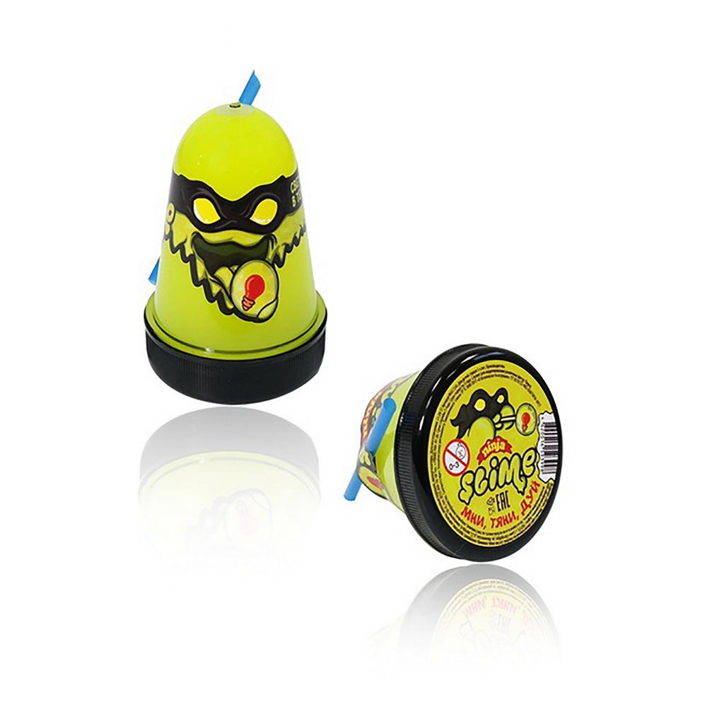 Лизун Slime Ninja, светится в темноте, жёлтый, 130 гИгрушки Антистресс<br>Лизуны, они же слаймы, - это маленькие аксессуары, которые вызывают восторг у детей уже несколько лет. Если и ваш ребенок обожает играть растекающимися полимерами, то побалуйте его лизуном Slime Ninja, который светится в темноте!