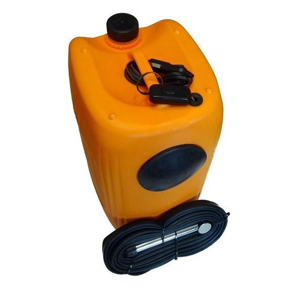 Минимойка Лонгер-душ с емкостью 20лАвтомойки<br>Переносная ручная минимойка Лонгер-душ с емкостью 20 литров для тщательной мойки машины в домашних условиях. В комплекте длинный шнур под прикуриватель, баллон на 20 литров воды, шланг, мотор-насос.<br>