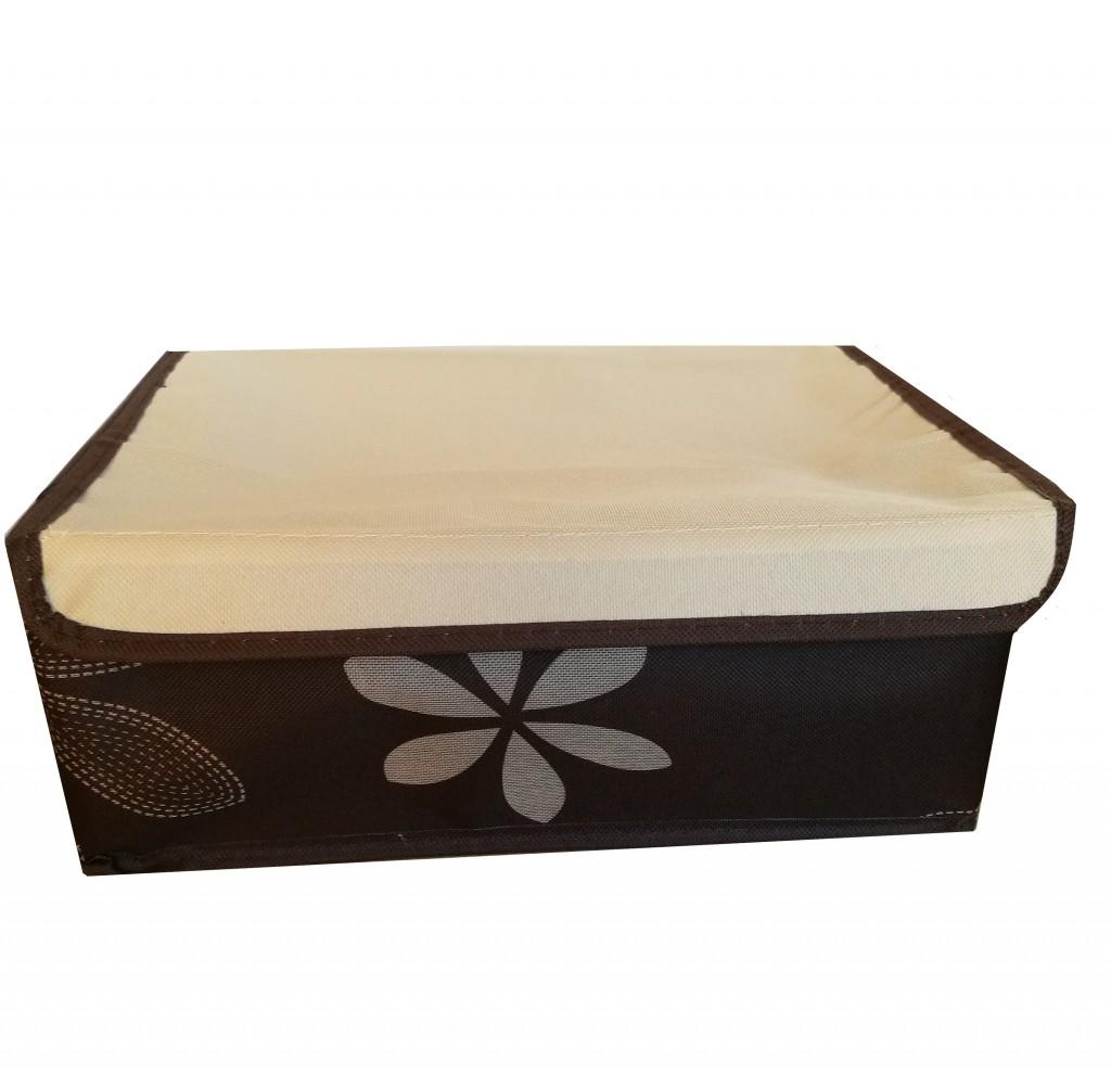 Короб для хранения с 8-ю ячейками, 31х24х12 см, коричневый