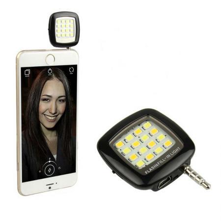 Портативная вспышка для смартфона, 3 режима подсветки