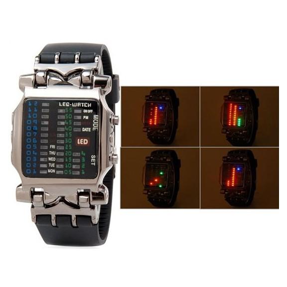 Брутальные LED часы - японский дизайн КрабСпортивные LED часы<br>Хотите удивить своего возлюбленного оригинальным подарком? Брутальные LED часы - японский дизайн Краб станут настоящей находкой, ведь сразу становится не совсем понятно: а действительно ли изделие показывает время? Но после того, как вы внимательно ознакомитесь с аксессуаром, то сильно удивитесь!<br>